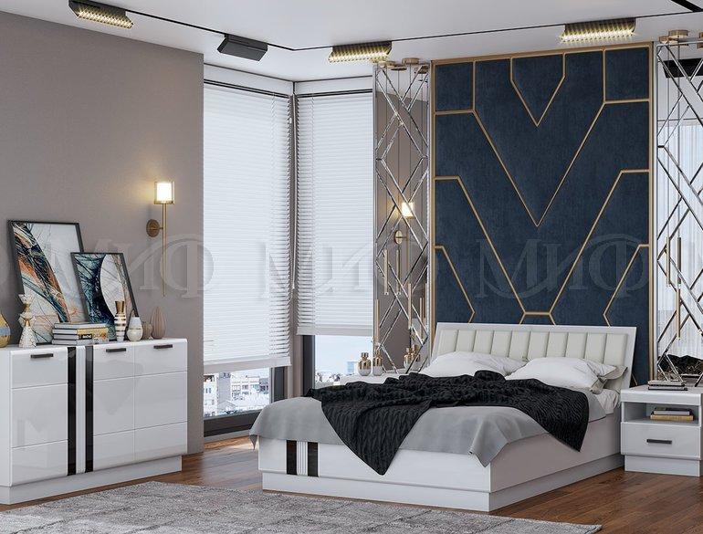 Спальня Магнолия. Белый глянец
